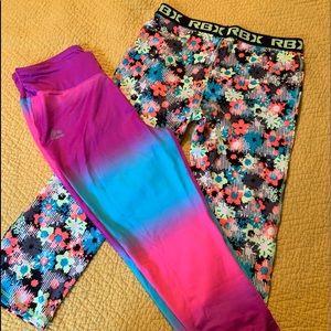 Girls leggings Reebok RBX 14 16 women XS tie dye